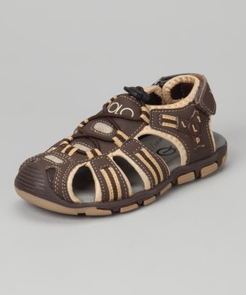 Brown & Tan Sporty Sandal
