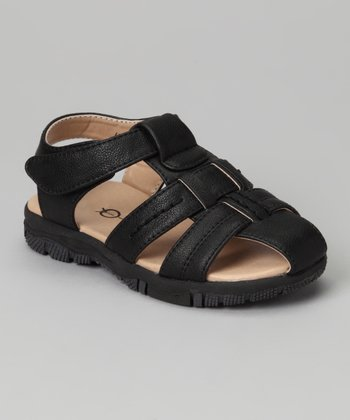 Black Three Strap Sandal