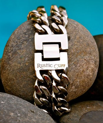 Stainless Steel Double Chain Link Bracelet