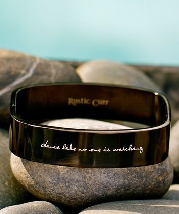 Black 'Dance Like No One is Watching' Square Bangle
