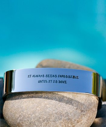 Stainless Steel 'Impossible' Square Bangle