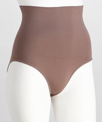 Smoky Taupe Seamless High-Waisted Briefs - Women