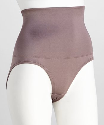 Smoky Taupe High-Waisted Briefs - Women & Plus