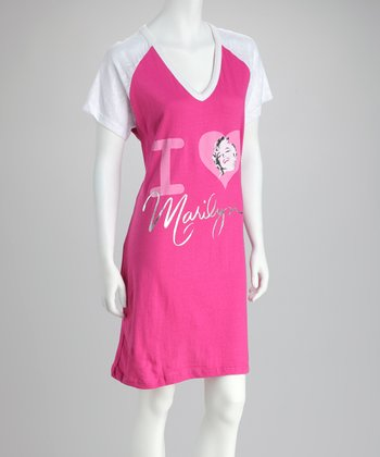 Pink 'I Love Marilyn' Sleepshirt - Women