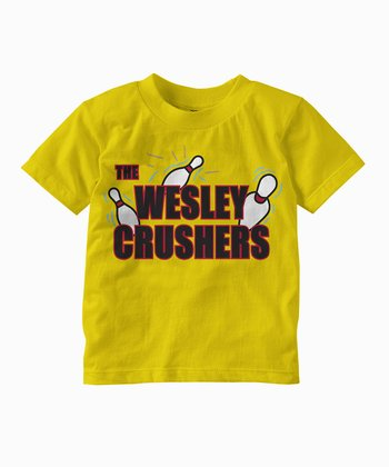 Yellow 'Wesley Crushers' Tee - Toddler & Kids
