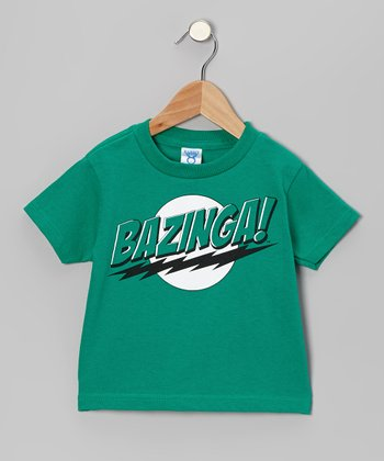 Green 'Bazinga!' Tee - Toddler & Kids