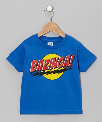 Blue 'Bazinga!' Tee - Toddler & Kids