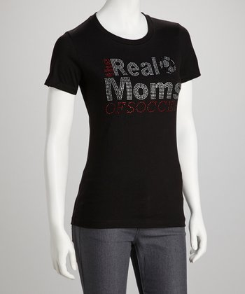 Black 'The Real Moms of Soccer' Tee - Women & Plus