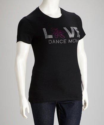 Black 'Love Dance Mom' Tee - Women