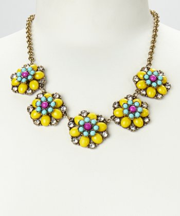 Yellow & Gold Floral Colors Necklace
