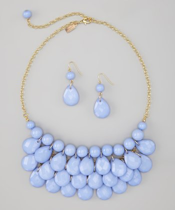 Periwinkle Water Drop Necklace & Earrings