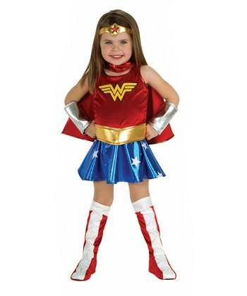 Red & Gold Wonder Woman Dress-Up Set - Toddler