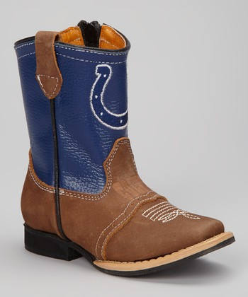 Indianapolis Colts Quarterback Roper Cowboy Boot - Kids