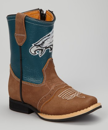 Philadelphia Eagles Quarterback Roper Cowboy Boot - Kids