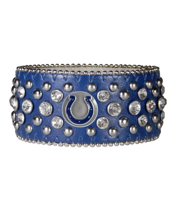 Blue Indianapolis Colts Bling Cuff