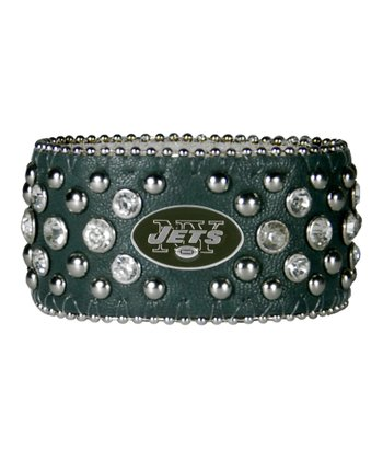 Green New York Jets Bling Cuff