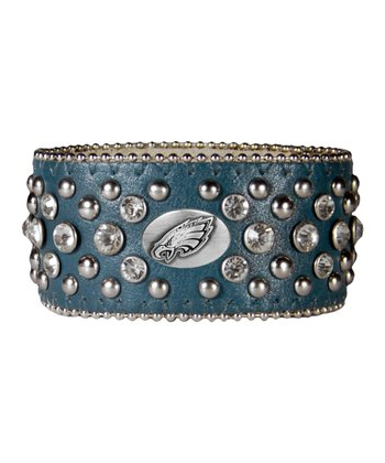 Green Philadelphia Eagles Bling Cuff