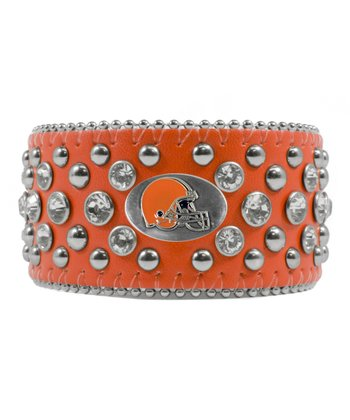 Orange Cleveland Browns Bling Cuff