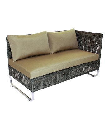 Beige Grid Sofa