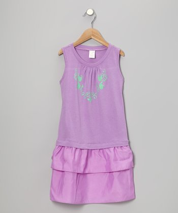 Lavender Fleur-de-Lis Dress - Toddler & Girls