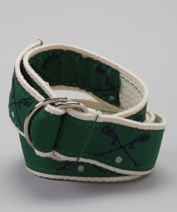Green & Navy Lacrosse Belt