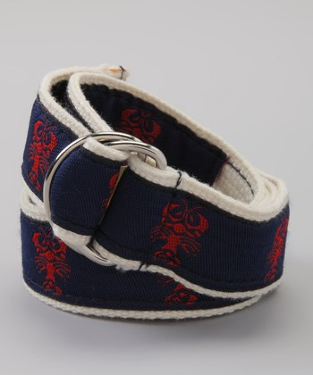 Navy & Red Lobster Belt