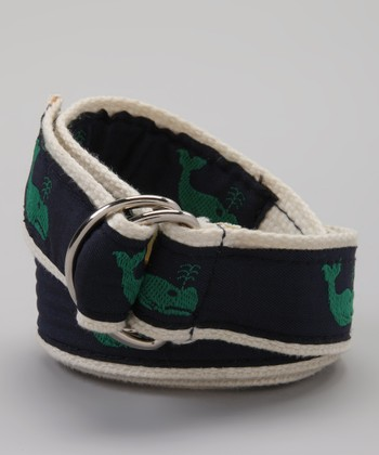 Navy & Green Whale Belt