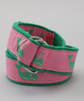 Pink & Green Whale Belt