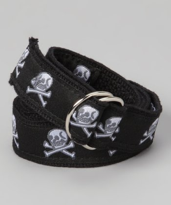 Black & Gray Skull Belt