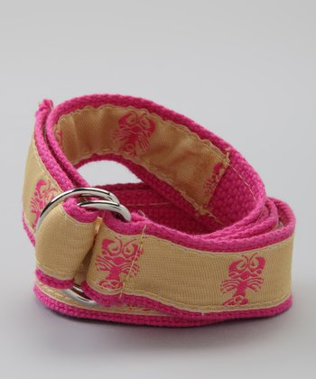Yellow & Pink Lobster Belt