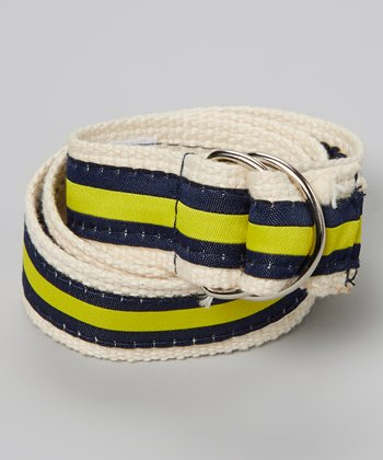 Blue & Yellow Stripe Belt