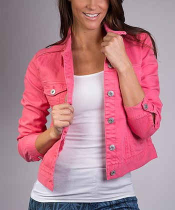 Fuchsia Rose Denim Jacket