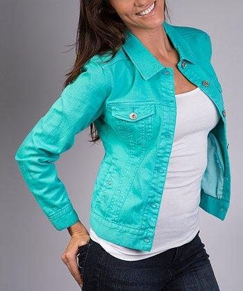 Liverpool Jeans Company Mosaic Turquoise Denim Jacket