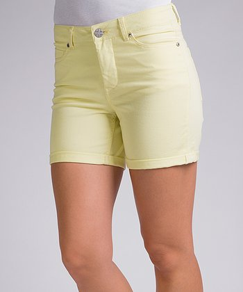 Liverpool Jeans Company Lemon Crème Linda High-Waisted Shorts