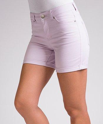 Liverpool Jeans Company Sweet Lilac Linda High-Waisted Shorts