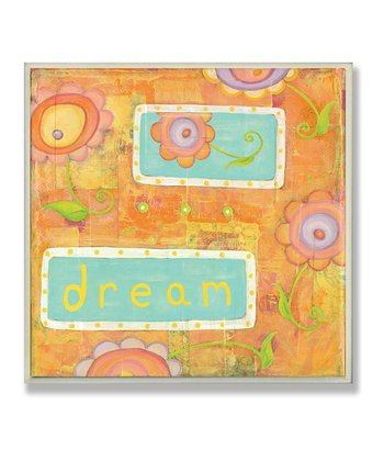 Orange Dream Flowers Wall Plaque