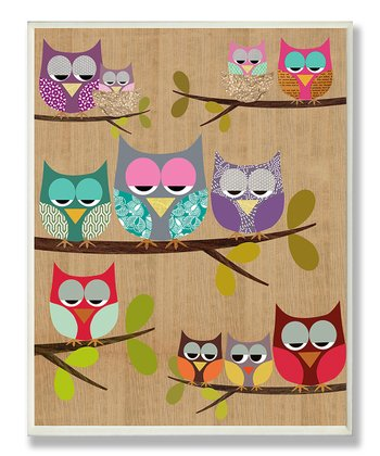 Woodland Owls Wall Plaque