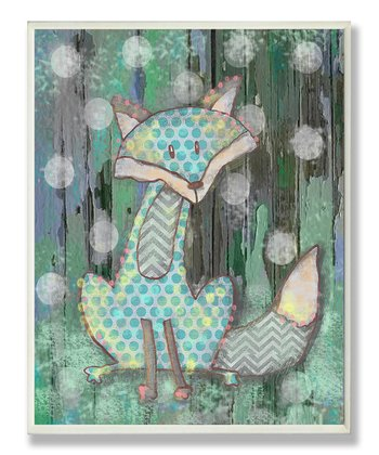 Woodland Fox Wall Plaque