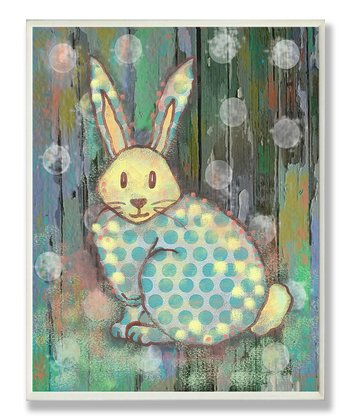 Woodland Rabbit Wall Plaque