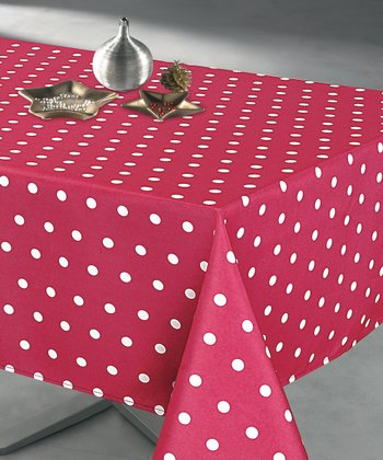 Red Polka Dot Tablecloth