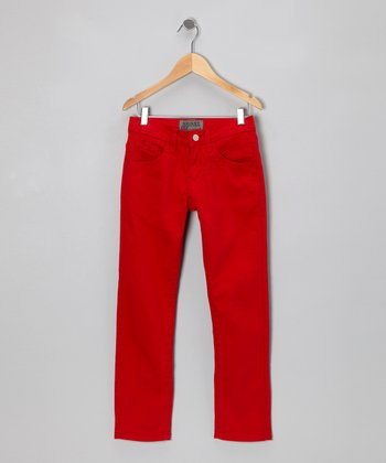 Red Flame Skinny Jeans - Boys