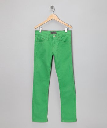 Light Green Skinny Jeans - Boys