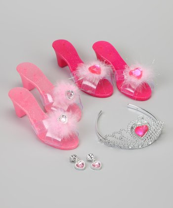 Pink Princess Shoes Dress-Up Set