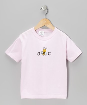 Pink 'A Bee C' Tee - Toddler & Kids