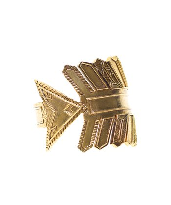 Gold Antique Accent Arrow Cuff