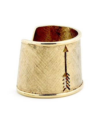 Gold Arrow Cutout Cuff