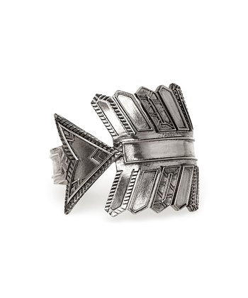 Silver Antique Accent Arrow Cuff