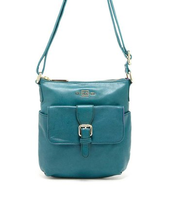 Teal Buckle Crossbody Bag