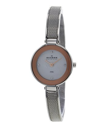 White Mother-of-Pearl Mesh Watch