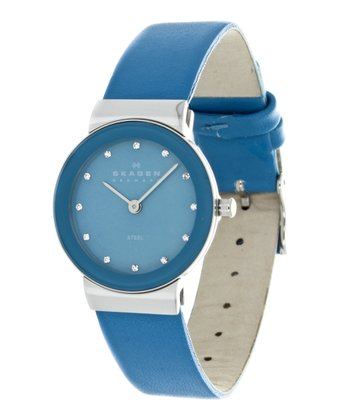 Swarovski Crystal & Blue Glitz Watch